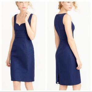 J. CREW Mae Dress Navy Blue Sz 4